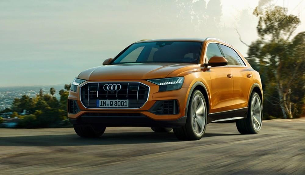 Audi Q8 sở hữu thiết kế đẹp mắt mang đậm nét thể thao, mạnh mẽ.