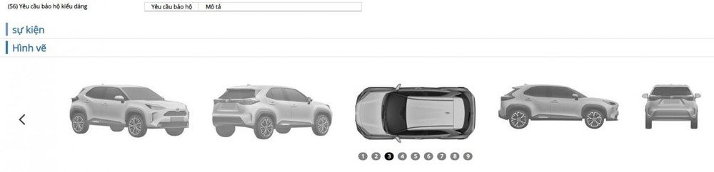 Toyota Yaris Cross Hybrid 2021 đang chờ cấp phép bảo hộ kiểu dáng tại Việt Nam.