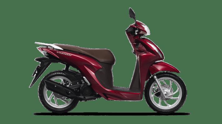 Honda Vision 2021 màu Đỏ Nâu Đen Cao cấp