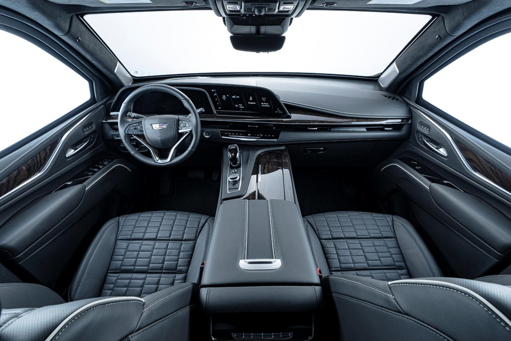 Nội thất của Inkas Cadillac Escalade 2021 bọc giáp