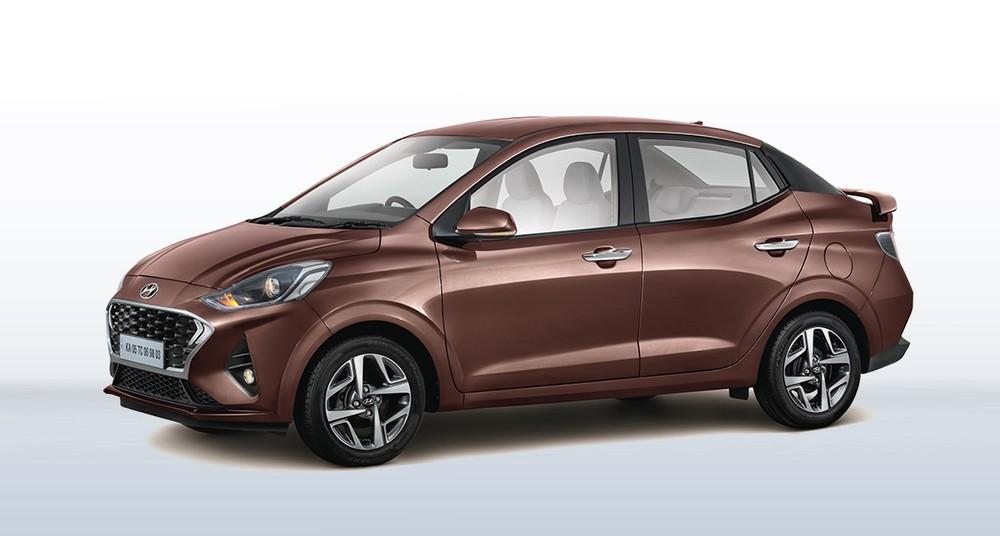 Ngoài cánh gió đuôi và vành, Hyundai Aura 2021 không thay đổi thiết kế so với phiên bản cũ