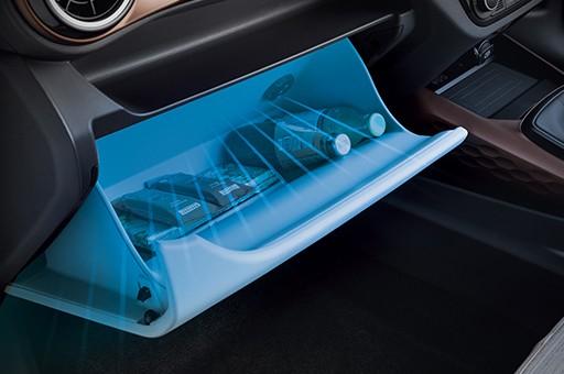 Hộc đựng găng tay làm mát mới của Hyundai Grand i10 bản sedan