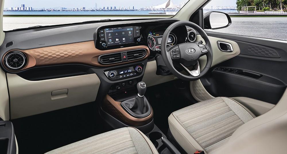 Nội thất của Hyundai Aura 2021 bản cao cấp nhất