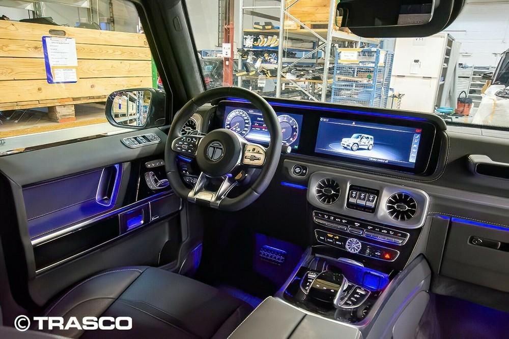Khoang lái của Mercedes-AMG G63 bọc thép chống đạn