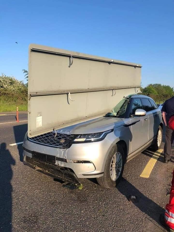 Hiện trường vụ tai nạn của chiếc Range Rover Velar