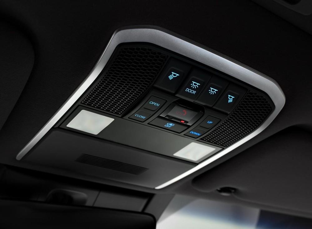 Các nút chỉnh trên trần của Toyota Land Cruiser 2022