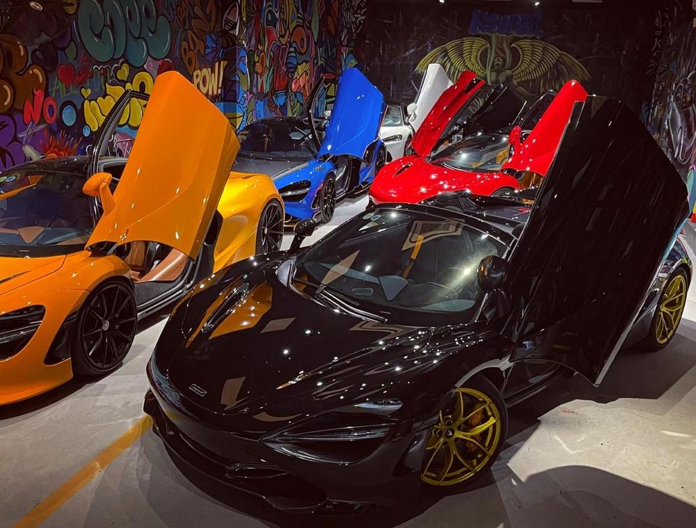 Có 5 chiếc siêu xe McLaren chen chúc trong garage chỉ đủ 10 chiếc xe đỗ