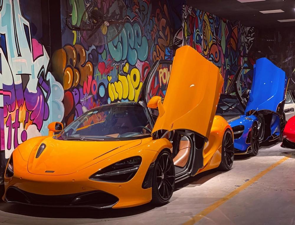 Một chiếc siêu xe McLaren 720S màu cam đẹp mắt