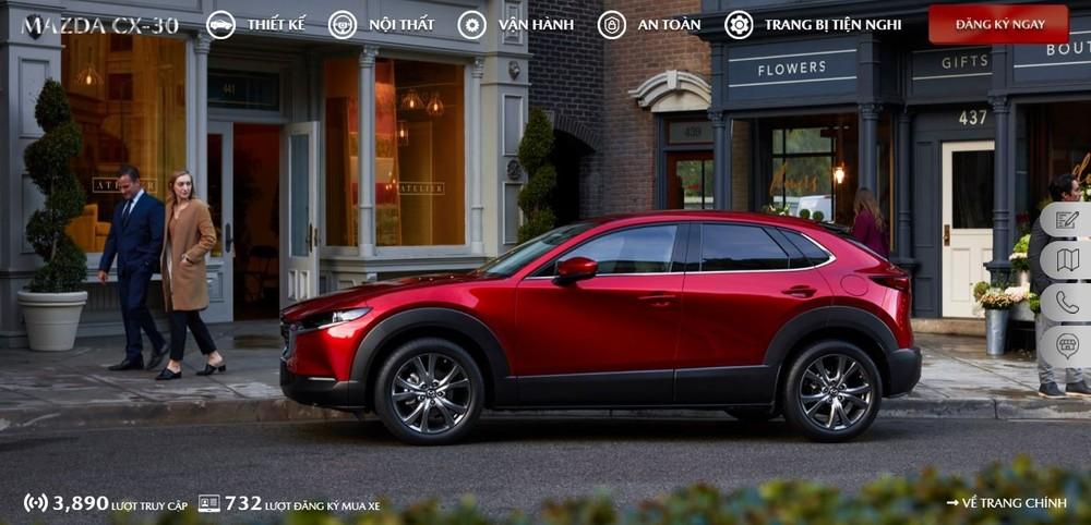 Thống kê trước ngày ra mắt cho thấy có 732 đơn đặt hàng Mazda CX-30 2021.