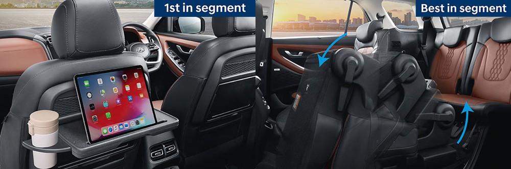 Nội thất của Hyundai Alcazar 2021 có thiết kế khá thực dụng