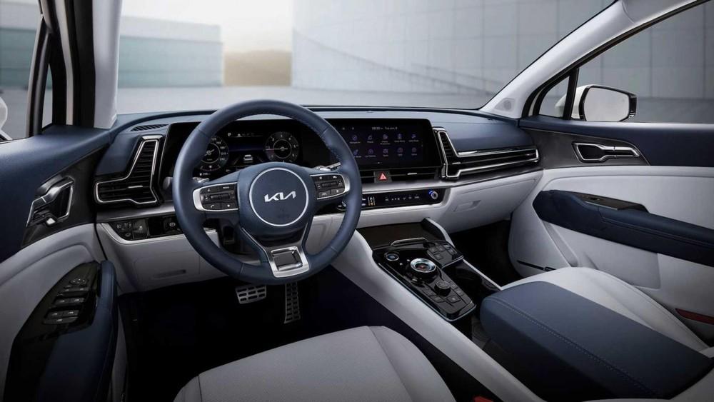 Kia Sportage 2022 sở hữu nội thất hiện đại và công nghệ cao hơn
