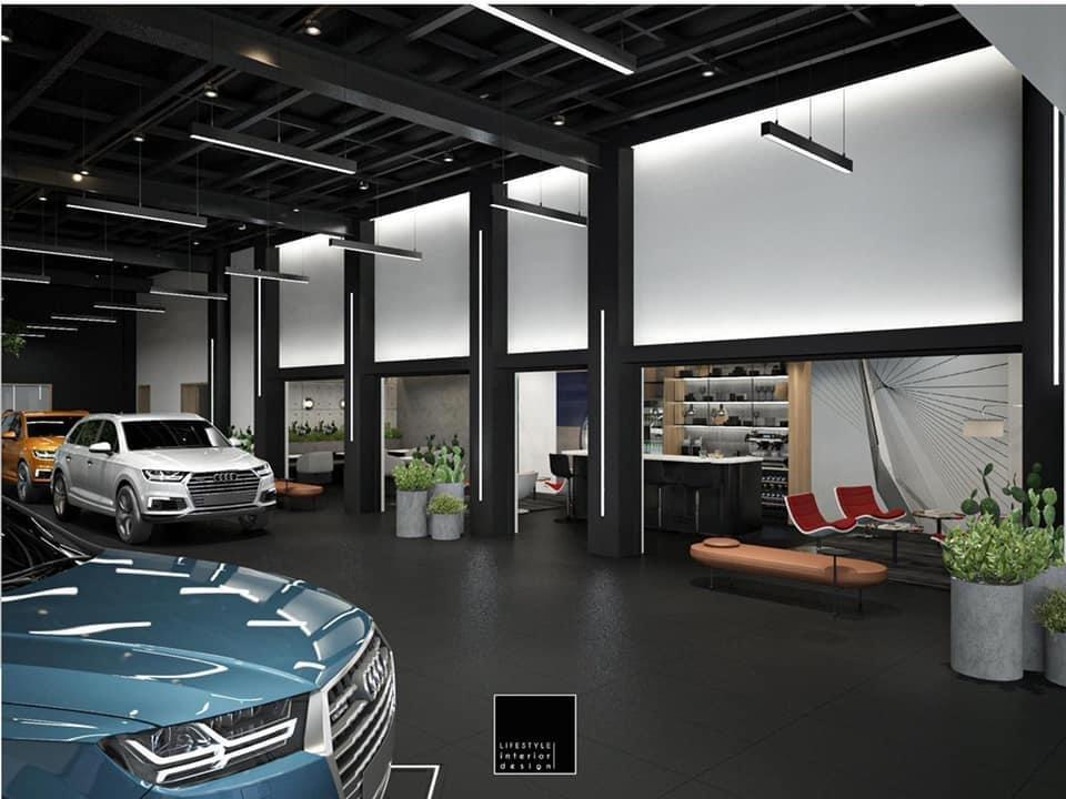 Không gian thư giãn dành cho khách hàng của Audi khi đến Power Lounge.