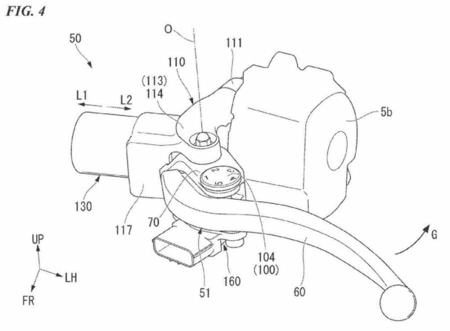Cùm côn tay có thiết kế quen thuộc nhưng sẽ không có dây dầu nối xuống động cơ