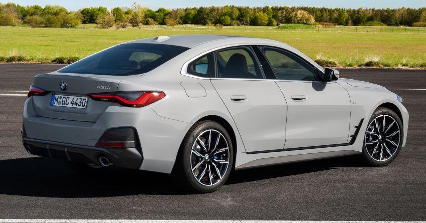 BMW 4-Series Gran Coupe 2022 có thiết kế tương đồng với mẫu ô tô điện i4