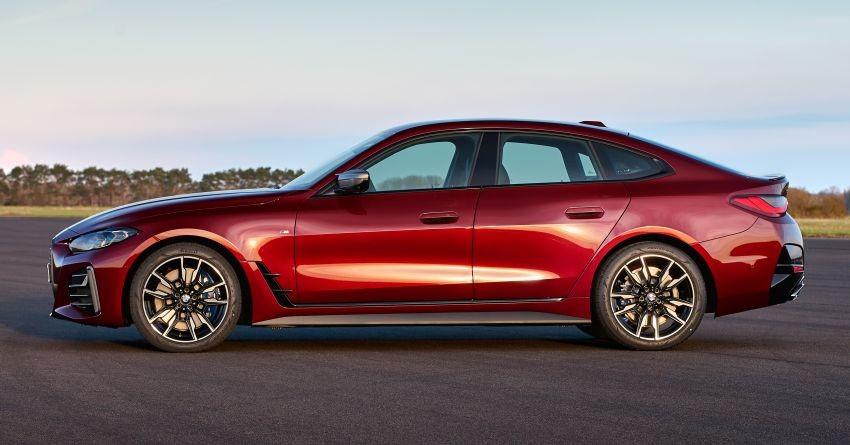 BMW 4-Series Gran Coupe 2022 có chiều dài cơ sở chỉ nhỉnh hơn một chút so với 3-Series
