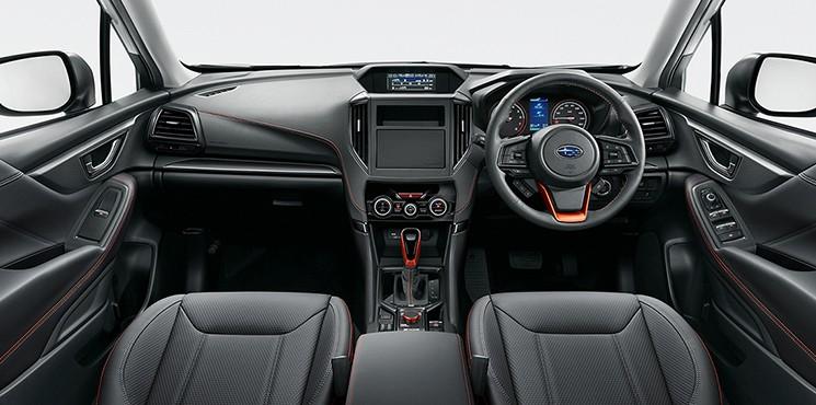 Tương tự ngoại thất, nội thất của Subaru Forester 2021 bản X-Break cũng có nhiều điểm nhấn màu cam