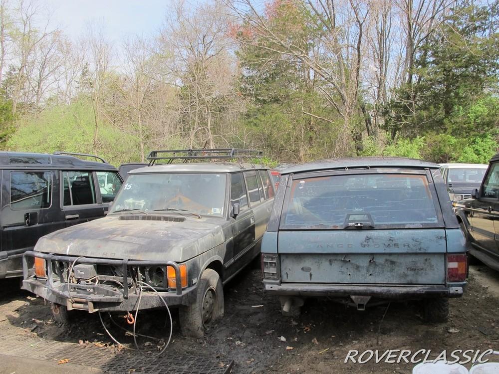 Những chiếc Range Rover bị rêu bám