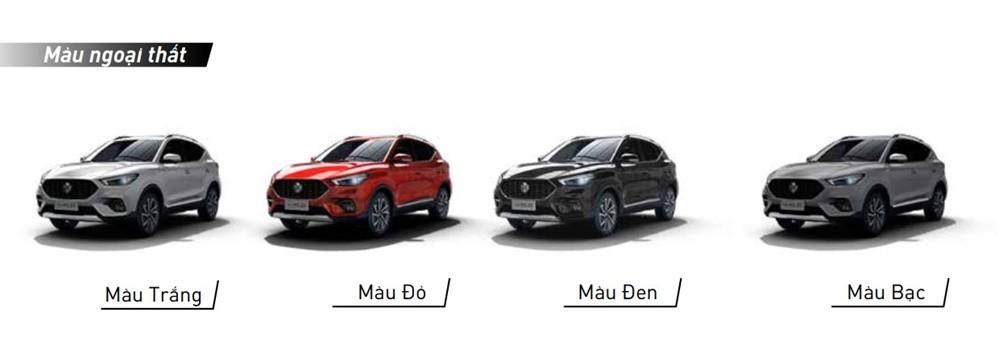 Màu sắc ngoại thất tùy chọn của MG ZS