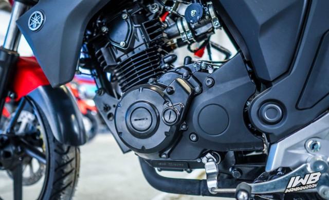 Khối động cơ xy-lanh đơn 153cc trên Yamaha Byson FI 2021