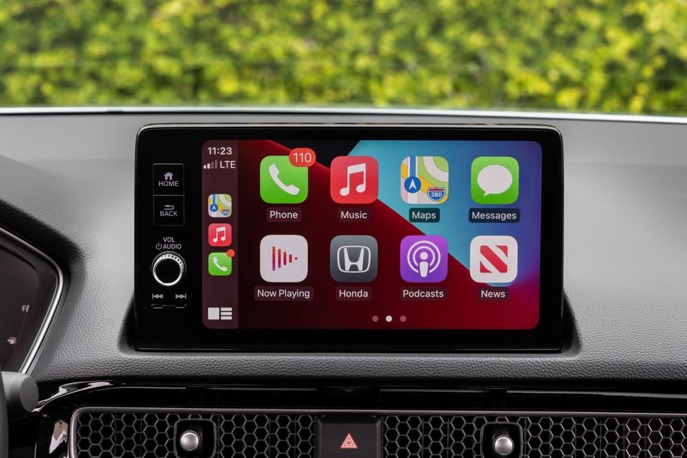 Màn hình trung tâm 9 inch của Honda Civic Touring 2022