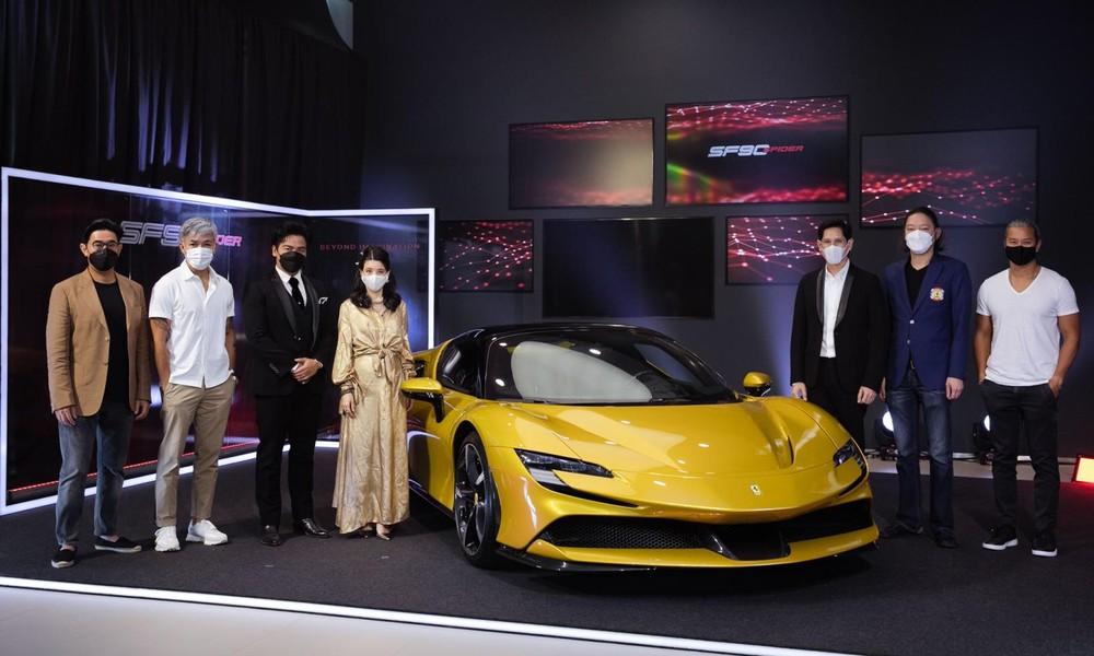 Mới đến Malaysia, siêu xe Ferrari SF90 Spider lật đật hạ cánh ở Thái Lan để trình diện