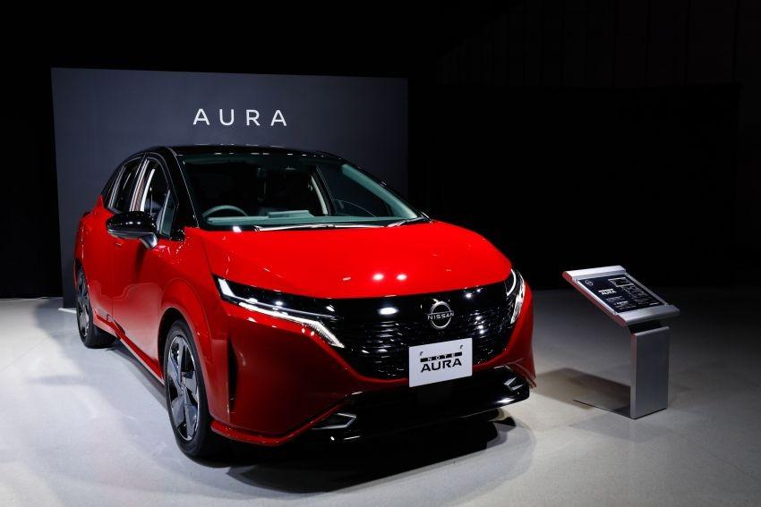 Nissan Note Aura 2022 là xe điện nhưng vẫn có động cơ xăng để sạc pin