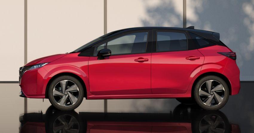 Thiết kế bên sườn của Nissan Note Aura 2022