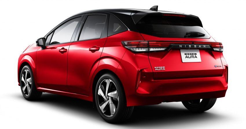 Thiết kế đằng sau của Nissan Note Aura 2022
