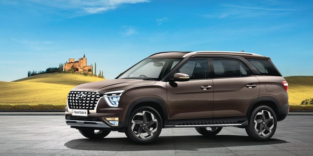 Hyundai Alcazar 2021 có nhiều chi tiết thiết kế khác biệt so với Creta