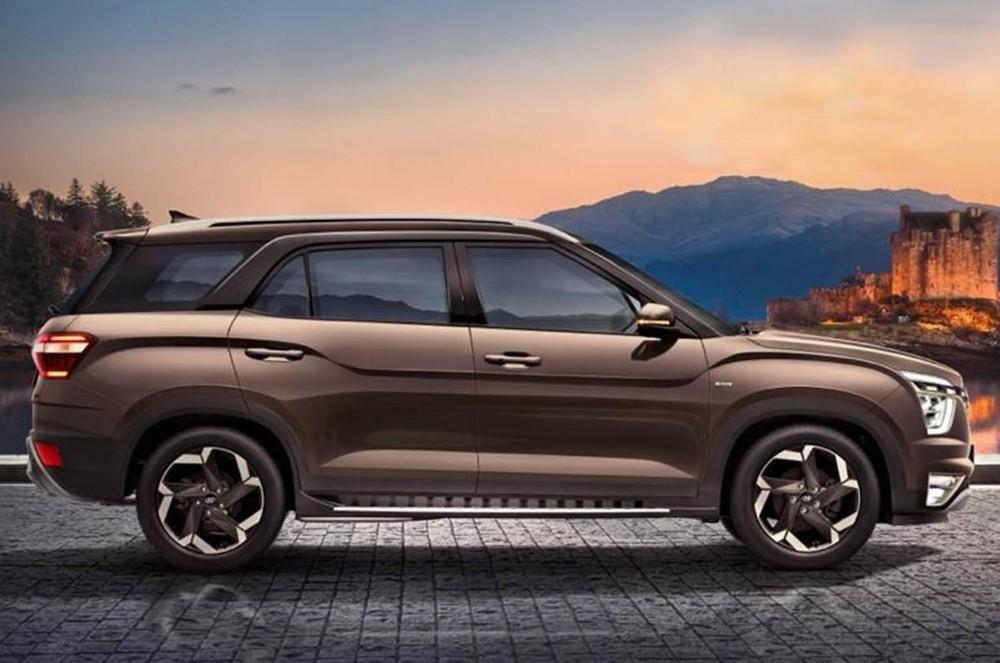 Hyundai Alcazar 2021 có chiều dài cơ sở tăng 150 mm so với Creta