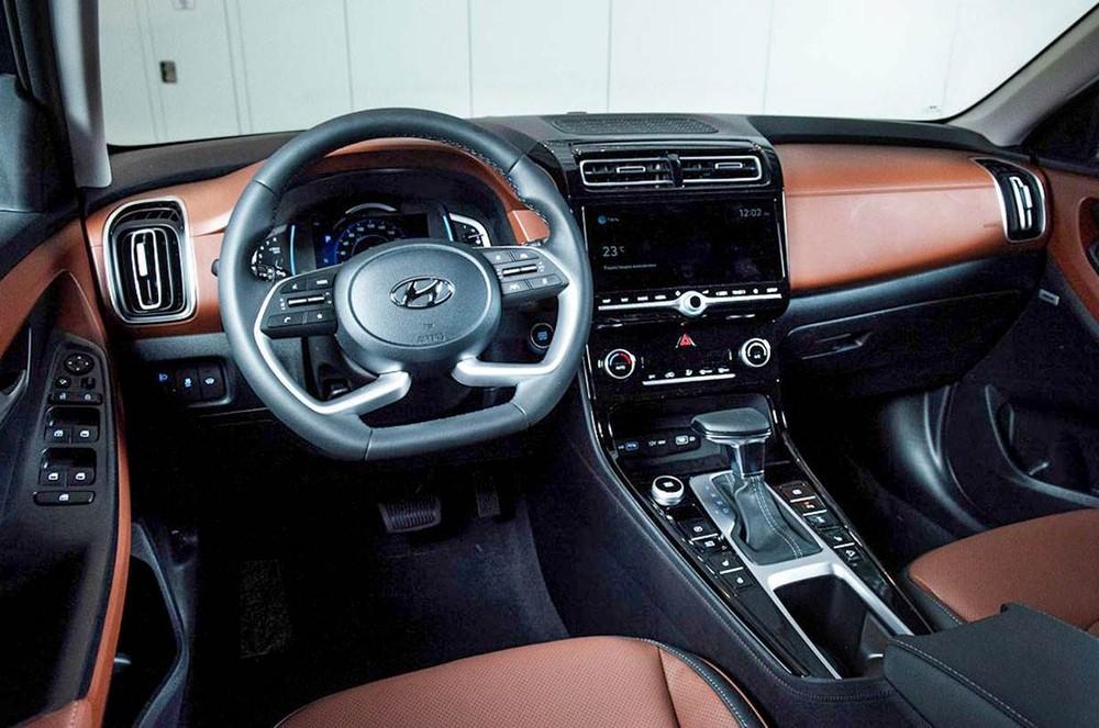 Khoang lái của Hyundai Creta 2021 ở thị trường Nga