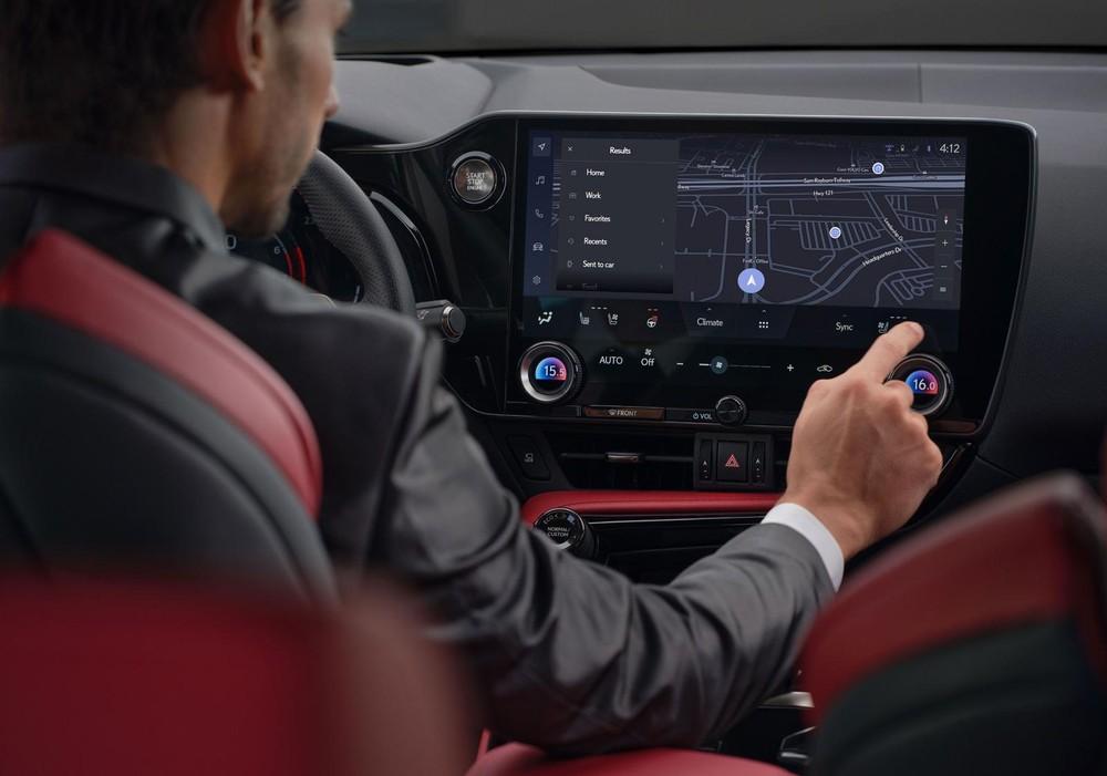 Màn hình thông tin giải trí 14 inch của Lexus NX 2022