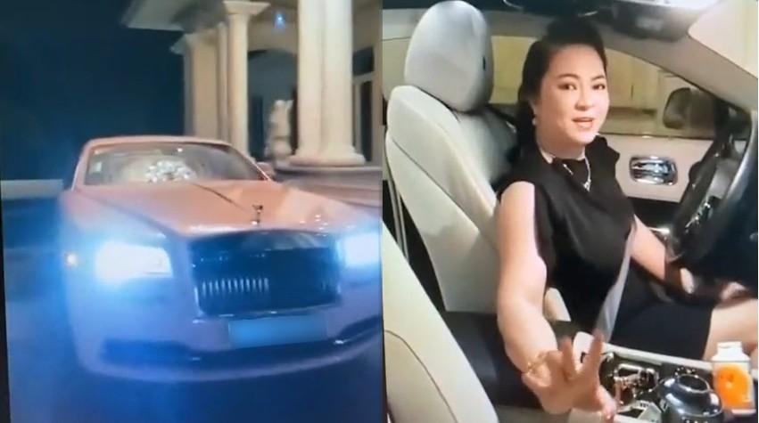 Bà Nguyễn Phương Hằng bất ngờ live stream vào tối ngáy 23 tháng 6 trên chiếc xe siêu sang Rolls-Royce Wraith màu hồng
