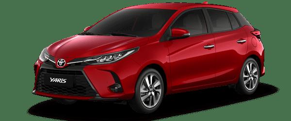Giá xe Yaris 2021 màu đỏ: 668.000.000 VNĐ