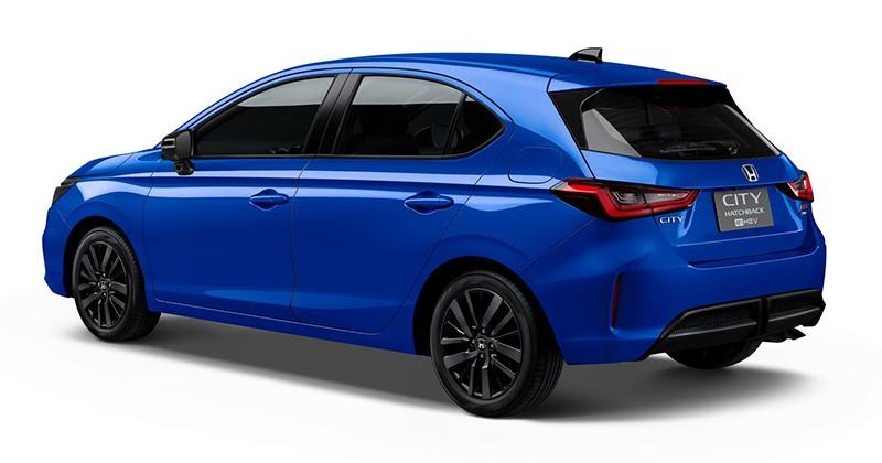 Honda City Hatchback e:HEV RS 2021 màu xanh dương mới