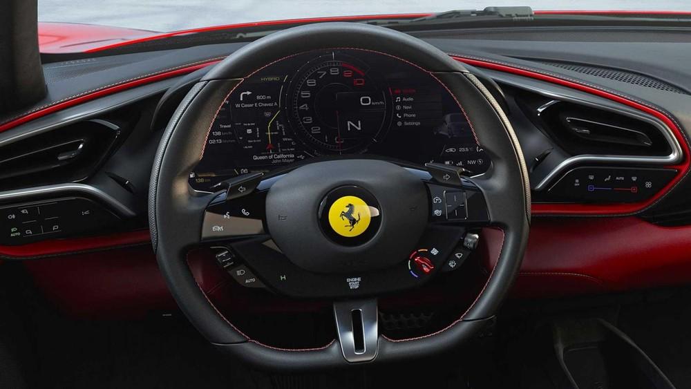 Vô-lăng của Ferrari 296 GTB tương đồng với SF90 Stradale