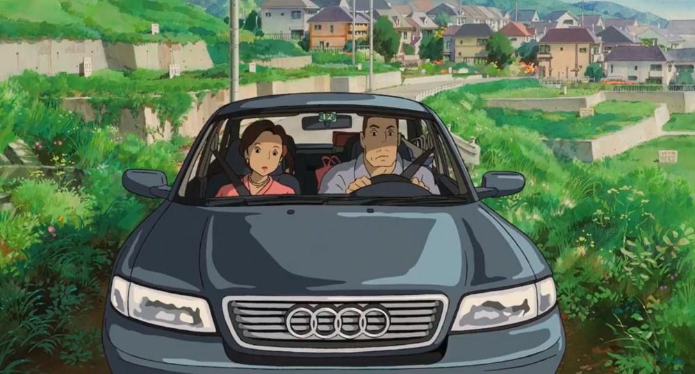 Chiếc xe Audi A4 của gia đình Chihiro