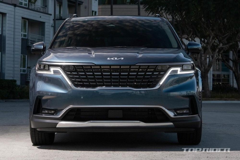 Kia Sedona 2022 tại Hàn Quốc được bổ sung lưới tản nhiệt giống xe ở Mỹ