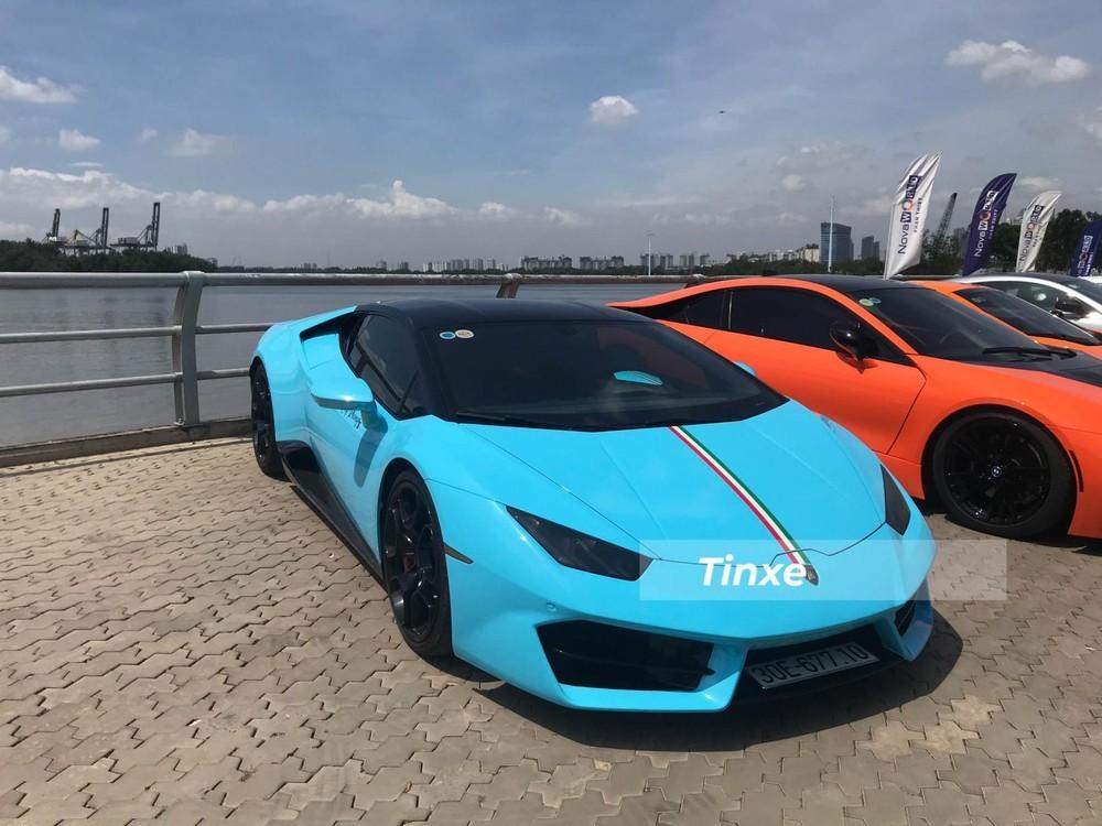 Xe được thay áo màu xanh Baby Blue