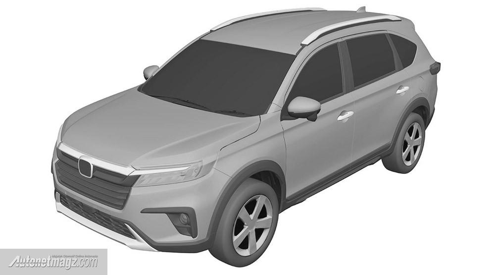 Honda BR-V 2022 rò rỉ thiết kế qua tài liệu đăng ký bảo hộ kiểu dáng công nghiệp tại Indonesia