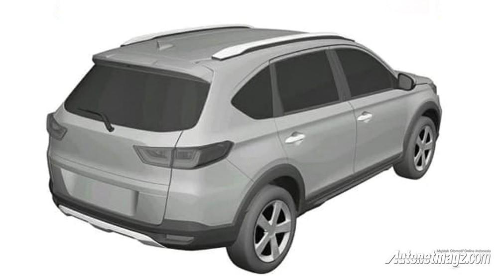 Thiết kế đằng sau của Honda BR-V 2022 cũng trung thành với N7X