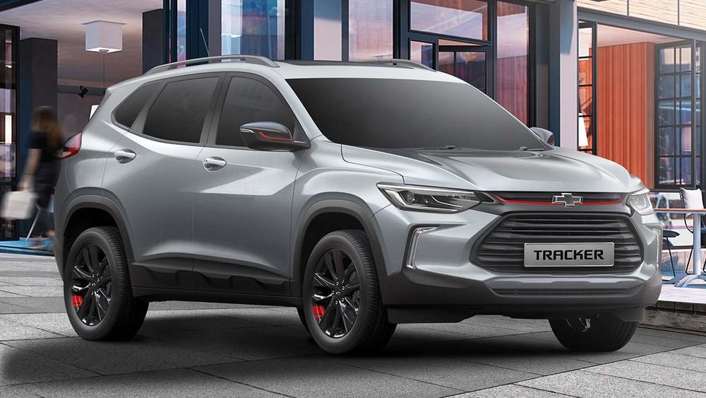 Thiết kế đầu xe của Chevrolet Tracker 2021