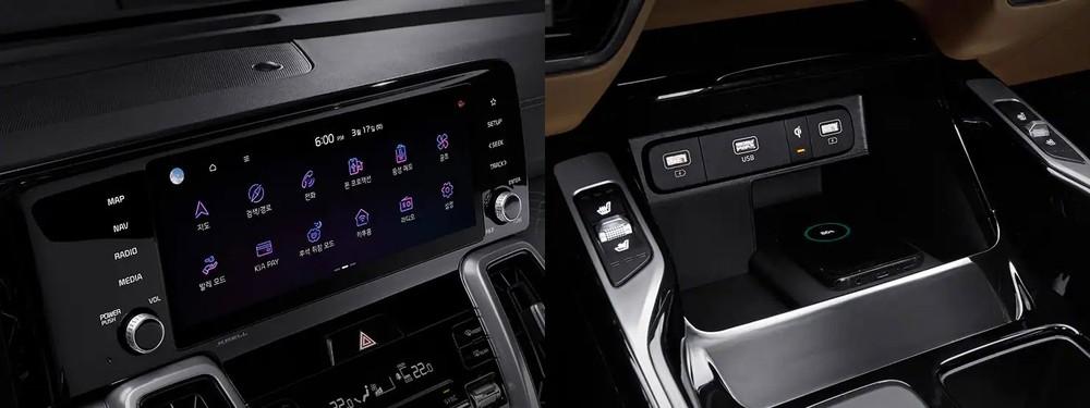 Bản cao cấp của Kia Sorento 2022 còn có màn hình thông tin giải trí 10,25 inch