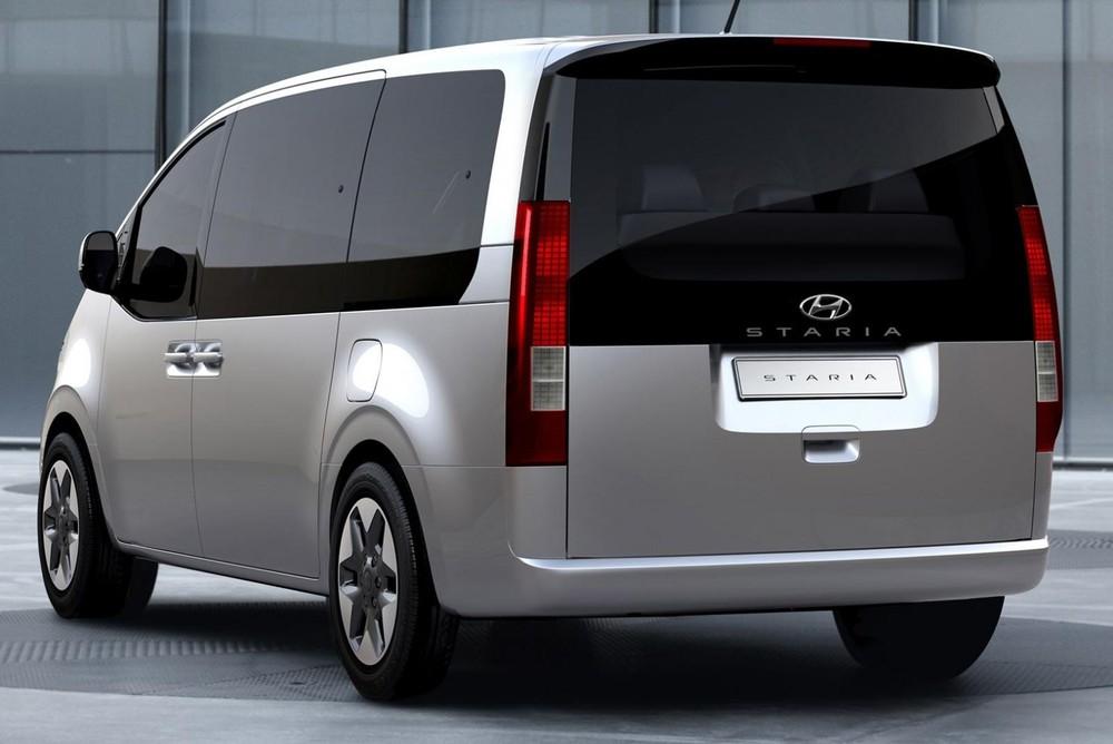 Thiết kế bên sườn và đằng sau của Hyundai Staria 2021 bản cấp thấp
