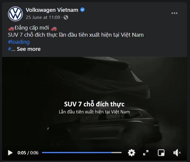Trên fanpage của Volkswagen Việt Nam đã hé lộ về sự xuất hiện của một mẫu SUV mới.