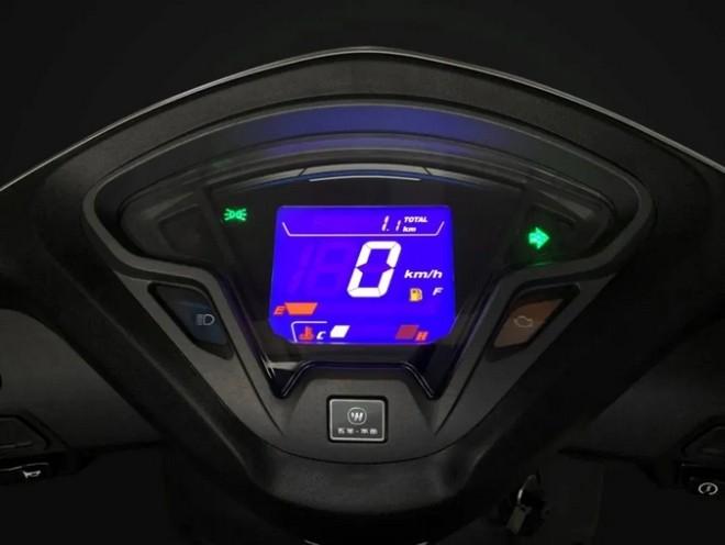 Thế hệ mới của Honda SCR110 được trang bị màn hình LCD hiện đại