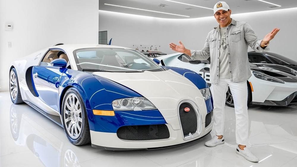 Chiếc siêu xe Bugatti Veyron này của ông Khoshbin chưa từng được thay lốp trong 15 năm qua