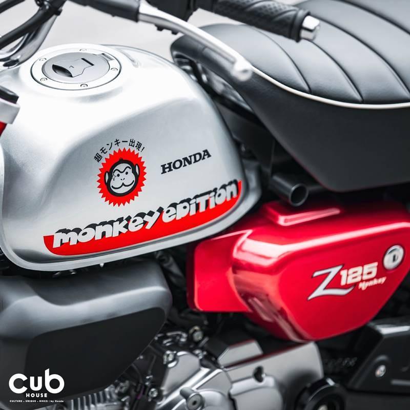 Màu sơn tương phản nổi bật trên Honda Monkey 2022