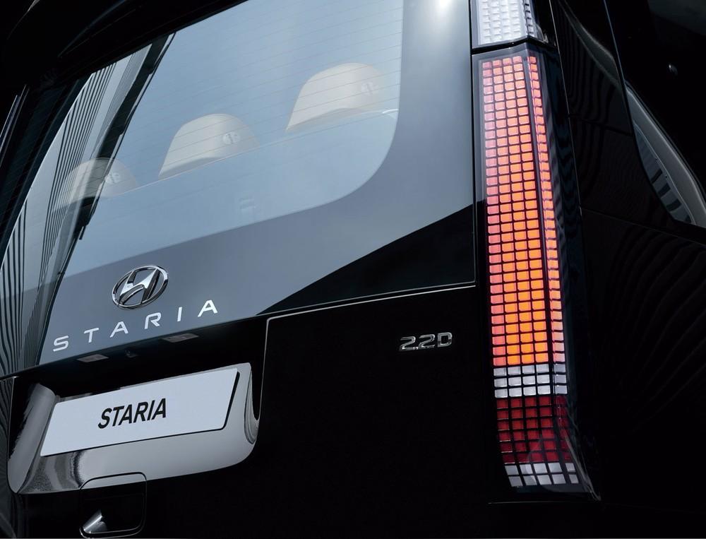 Cụm đèn hậu Parametric Pixel của Hyundai Staria 2021