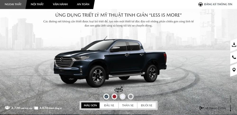 Thông tin về Mazda BT-50 2021 đã xuất hiện trên trang chủ của hãng.